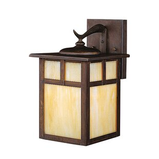 Check Prices Daveney 1-Light Opalescent Glass Outdoor Wall Lantern By Bloomsbury Market