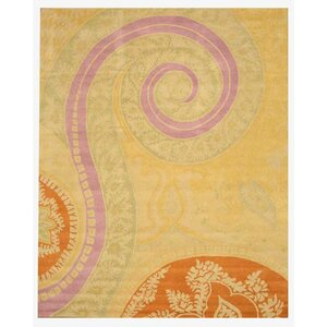 Lunnville Hand-Tufted Gold Area Rug