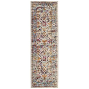 Greenberg Cream/Teal Rug by World Menagerie