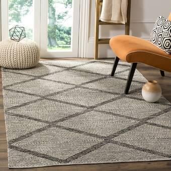 Ebern Designs Wargo Abstract Brown Area Rug Wayfair