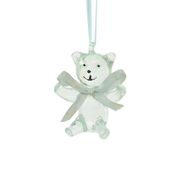 The Holiday Aisle Blue Glass Bear Hanging Figurine Ornament Wayfair