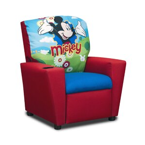 Disneyu0027s Mickey Mouse Clubhouse Kids Cotton Recliner Chair with Cup Holder  sc 1 st  Wayfair & Kidsu0027 Recliners islam-shia.org
