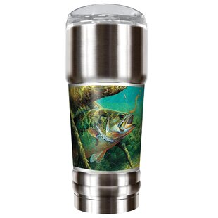 Mark Susinno's Bass and Texas Rig 32 oz. Stainless Steel Travel Tumbler