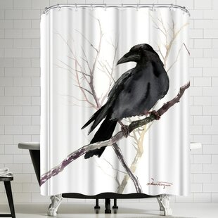 Suren Nersisyan Raven On Tree Single Shower Curtain