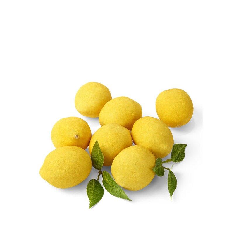 Serene Spaces Living 8 Of Pieces Leaves Decorative Meyer Lemons Sculpture Set Reviews Wayfair