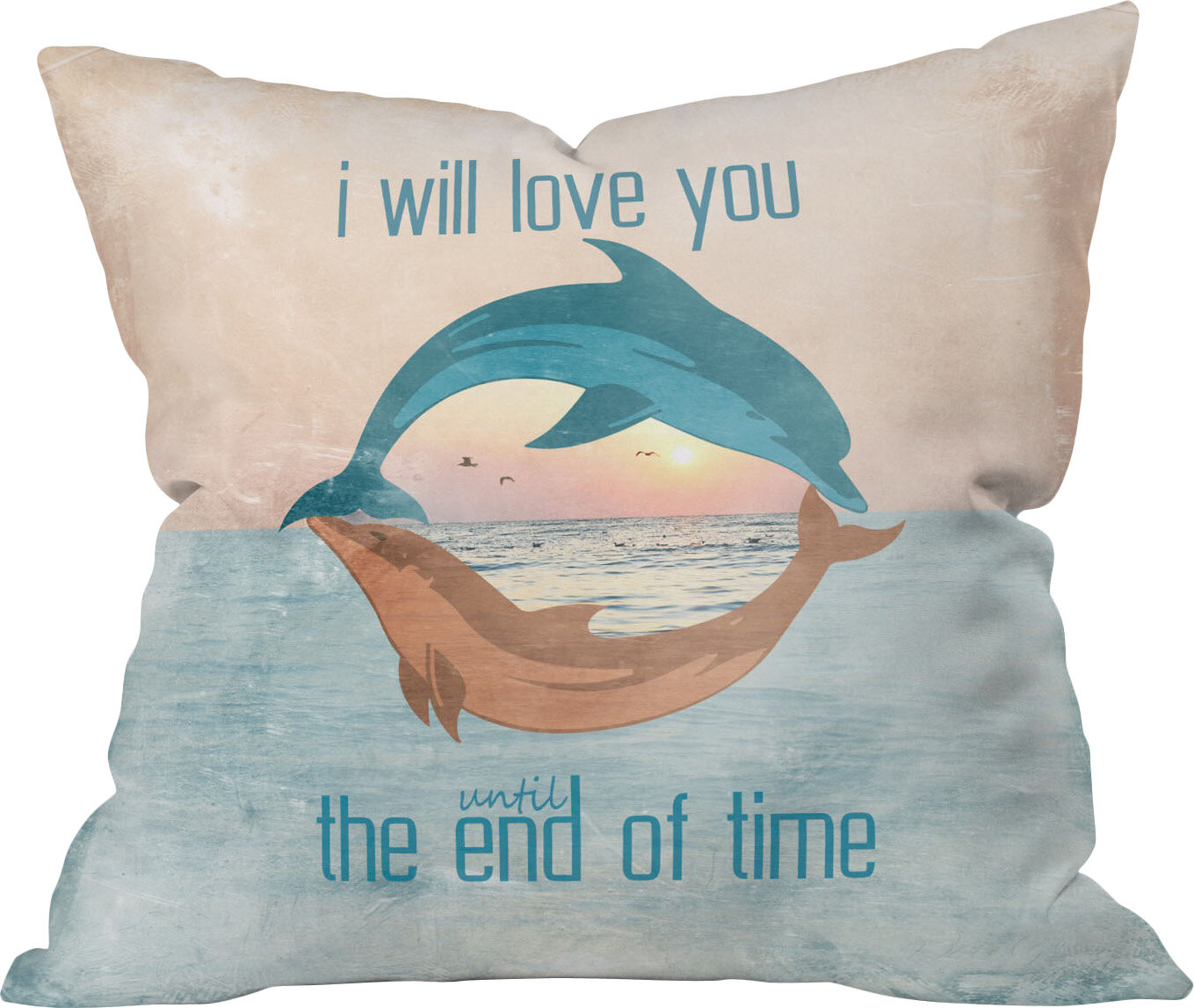 Deny Designs Until The End Of Time Outdoor Throw Pillow Wayfair