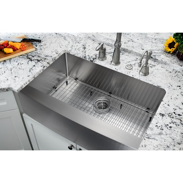 Soleil 35875 L X 2075 W Single Bowl Farmhouse Apron Kitchen Sink Reviews