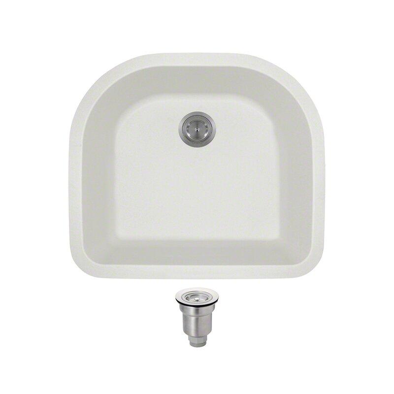 granite composite 25   x 22   undermount kitchen sink with basket strainer mrdirect granite composite 25   x 22   undermount kitchen sink with      rh   wayfair com