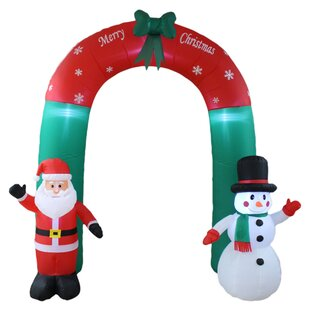 christmas inflatable santa claus and snowman arch yard decoration