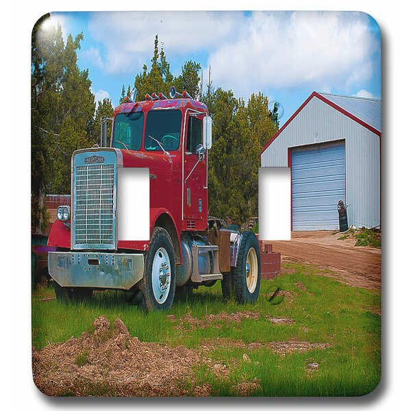 3drose An Old Truck Done In A Vibrant Sitting On The Grass By An Old Shed In Enterprise Utah 2 Gang Toggle Light Switch Wall Plate Wayfair