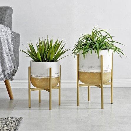 Firstime & Co. Whitewash Avisha Planter 2-Piece Set