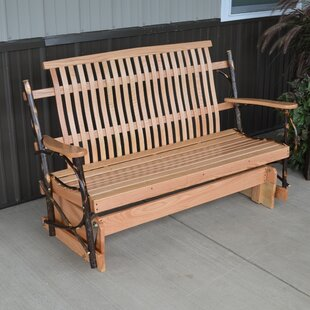 Woen Hickory Porch Glider Bench