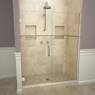 Find 2000V Series Swing 47 x 76 Hinged Frameless Shower Door ByTile Redi