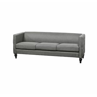 Arneson Tufted Contemporary Nailhead Blue Sofa