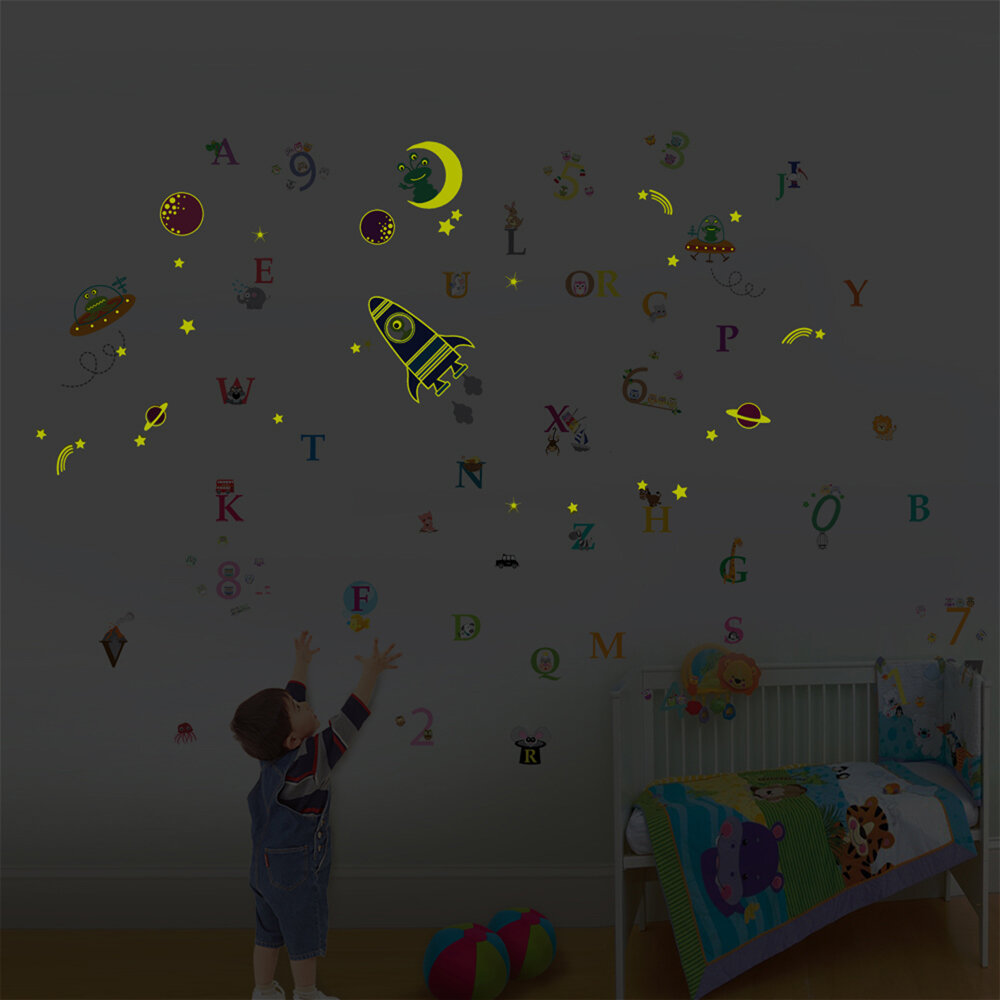 Walplus Galaxy With Numbering And Alphabets Wall Decal Wayfair