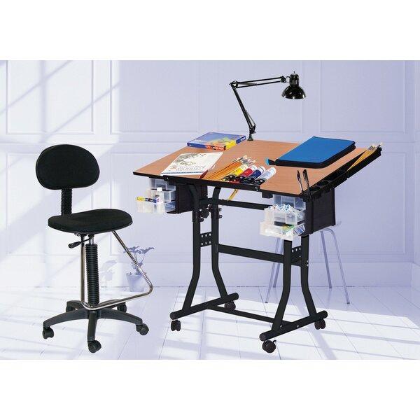 Martin Universal Design Creation Station Melamine Drafting Table With Chair  U0026 Reviews | Wayfair