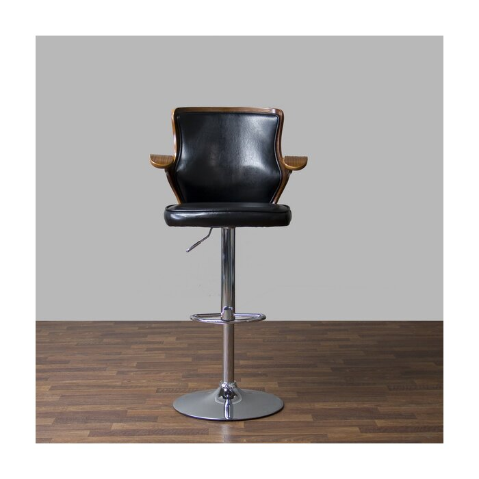 Magnificent Baxton Studio Adjustable Height Swivel Bar Stool Uwap Interior Chair Design Uwaporg