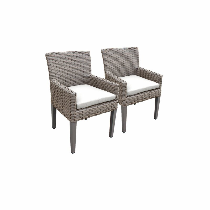 Sol 72 Outdoor  Rockport Patio Dining Chair with Cushion Cushion Color: White