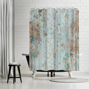 Lebens Art Wc Pastel Glitter Square Single Shower Curtain