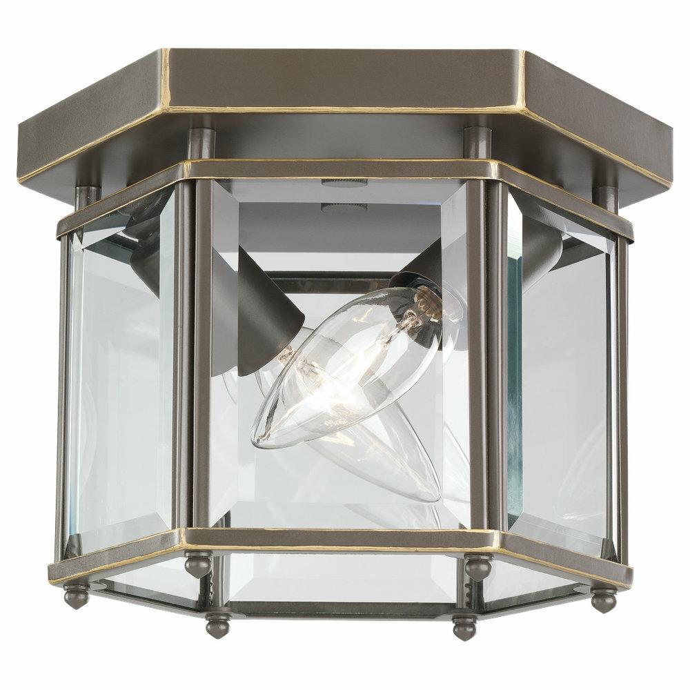 Charlton Home Pinecrest 2 Light Outdoor Flush Mount Reviews Wayfair