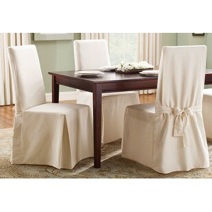 Cotton Duck Box Cushion Dining Chair Slipcover