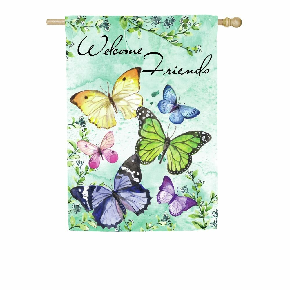 Evergreen Enterprises Inc Butterfly Friends 2 Sided Polyester 43 X 29 In House Flag Wayfair