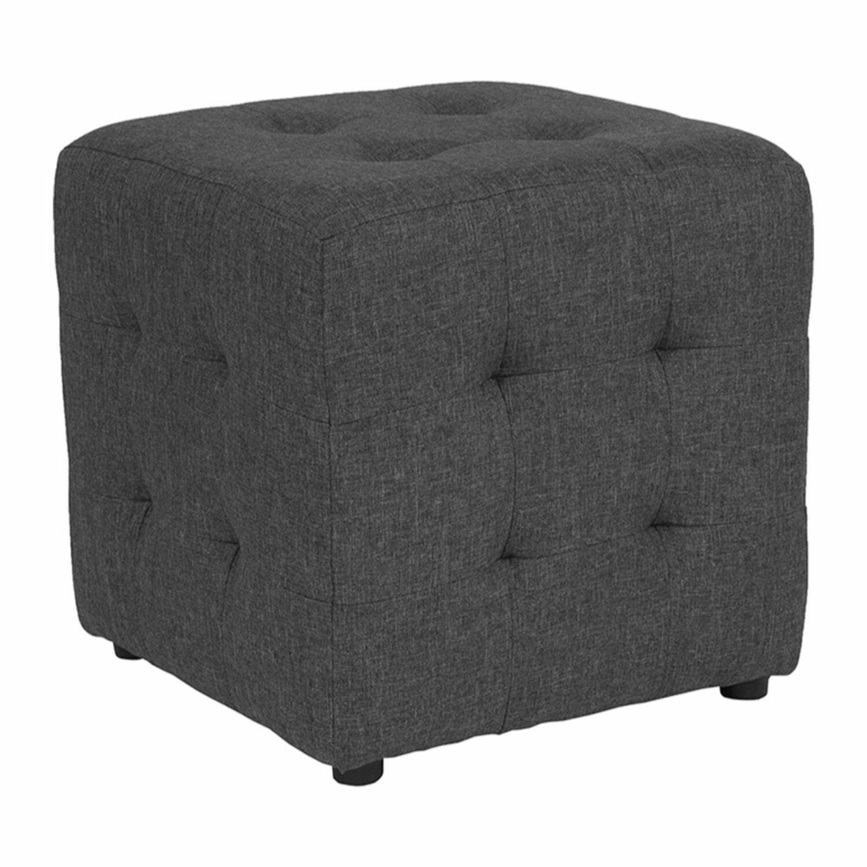 Terrific Wesley Tufted Cube Ottoman Creativecarmelina Interior Chair Design Creativecarmelinacom