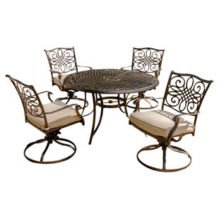 Carleton 5 Piece Dining Set with Cushions