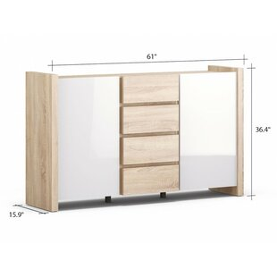 Odom 4 Drawer 2 Door Accent Cabinet by Union Rustic