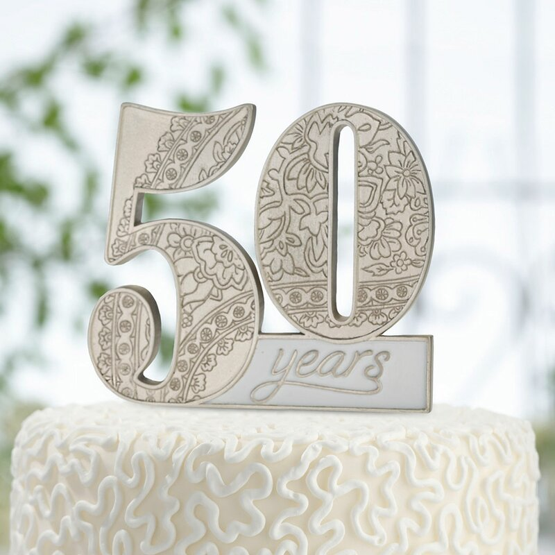 Outstanding Le Prise 50Th Anniversary Cake Topper Wayfair Funny Birthday Cards Online Drosicarndamsfinfo
