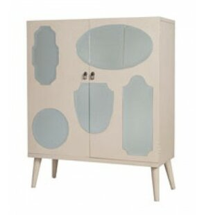 Audun Vintage Mirrored 2 Door Accent Cabinet by One Allium Way
