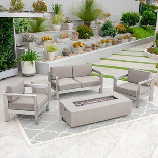 Borja Outdoor 4 Piece Sofa Seating Group with Cushions