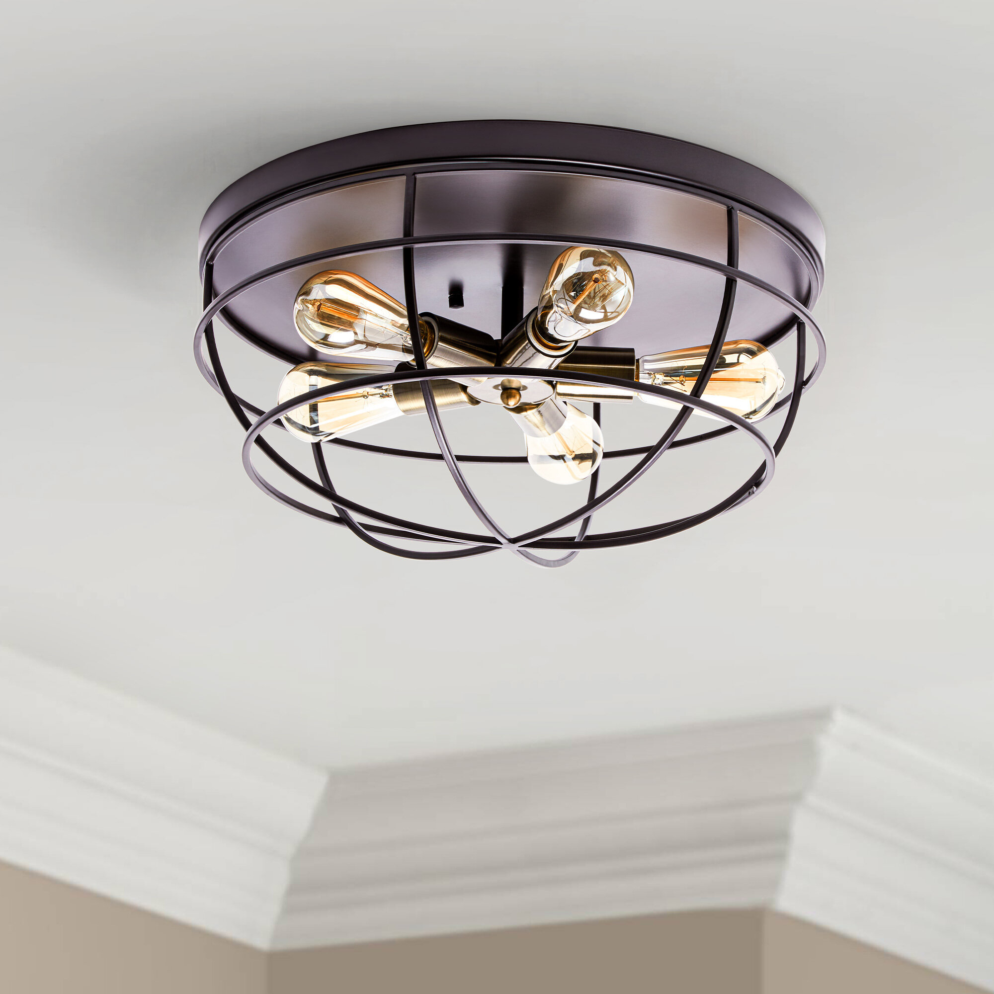 17 Stories Hulda 5 Light 16 5 Dome Flush Mount Reviews Wayfair