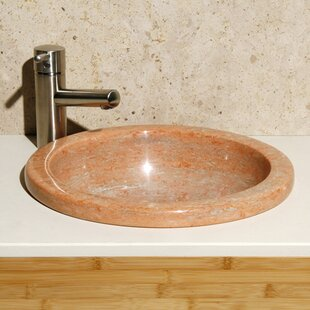 Best Price Sunset Mist Stone Circular Drop-In Bathroom Sink By Allstone Group