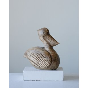 Alabi Hand Carved Mango Wood Pelican Figurine