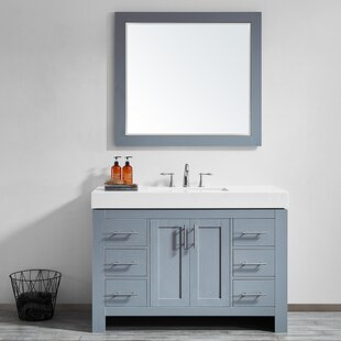 Neva 48 Single Bathroom Vanity Set with Mirror by Wrought Studio