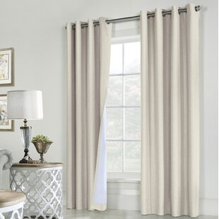 Laureen Solid Max Blackout Grommet Curtain Panels (Set of 2) by Darby Home Co