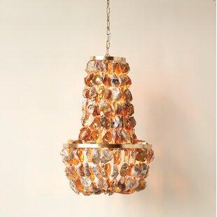 Oyster shell chandelier wayfair naudain round oyster shell 1 light empire chandelier aloadofball Gallery