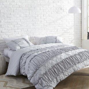 Arkadelphia Ruffle Pleats Oversized Duvet Cover