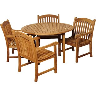 Brighton 5 Piece Teak Dining Set