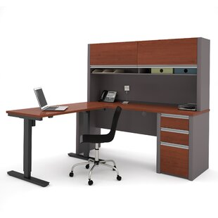 Aurea L-Shape Desk Office Suite With Hutch by Orren Ellis 2019 Sale