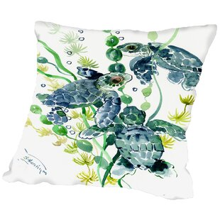Thee Sea Turtles Throw Pillow
