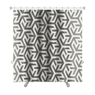 Kilo Pattern Arabic Geometric Islamic Art Premium Single Shower Curtain