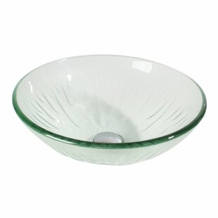 Price comparison Glass Circular Vessel Bathroom Sink By Arsumo