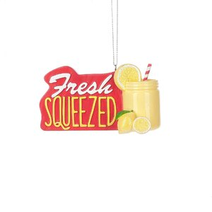 Fresh Squeezed Lemonade Drink Hanging Figurine