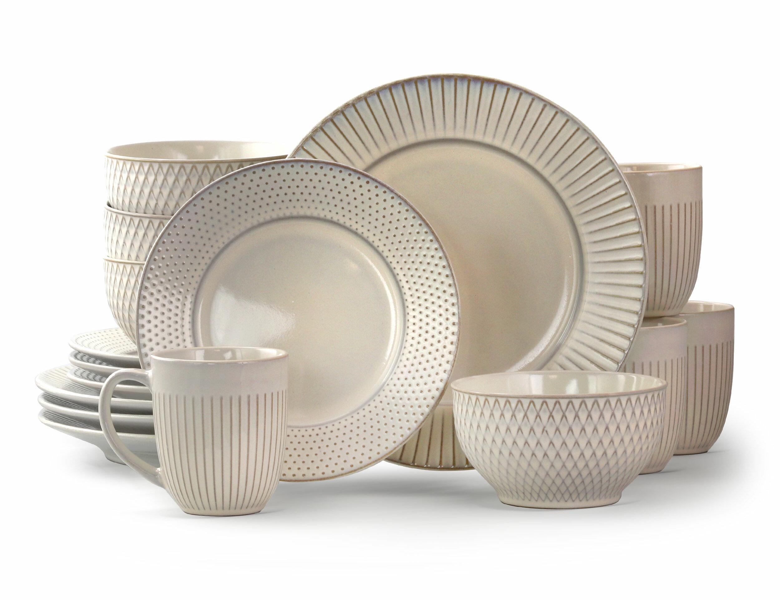 Winston Porter Goodman 16 Piece Dinnerware Set Service For 4 Reviews Wayfair