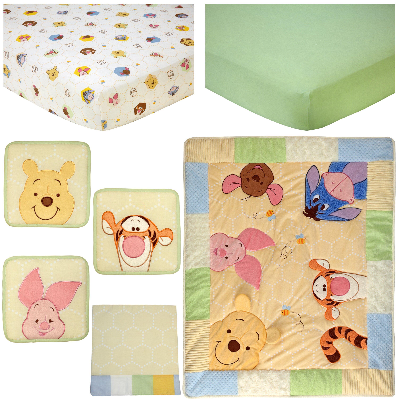 0e640ff4d12b Disney Winnie the Pooh Peeking Pooh 7 Piece Crib Bedding Set