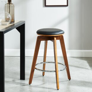 Bonaparte 26 Swivel Bar Stool (Set of 2) George Oliver