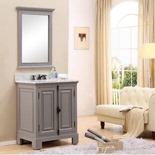Freemont 30 Single Bathroom Vanity Set with Mirror by dCOR design