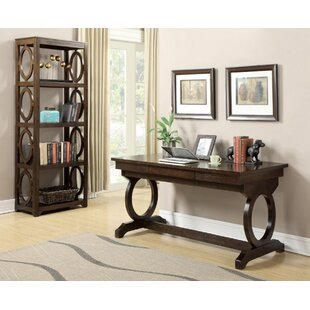 Danette Writing Desk with Bookcase